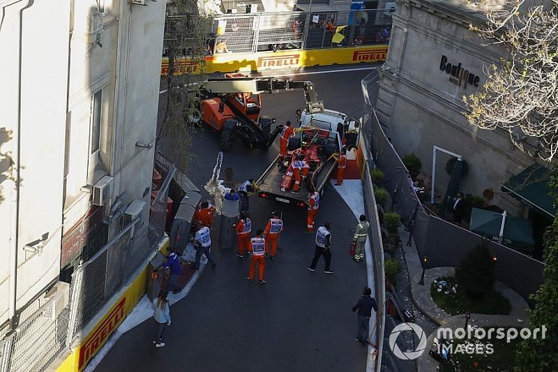 Ecco il video del clamoroso incidente di Charles Leclerc nella Q2 di Baku