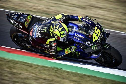 "MotoGPサンマリノFP3:ロッシ""41歳""、地元戦でトップタイム! ヤマハ勢がトップ3に並ぶ。"