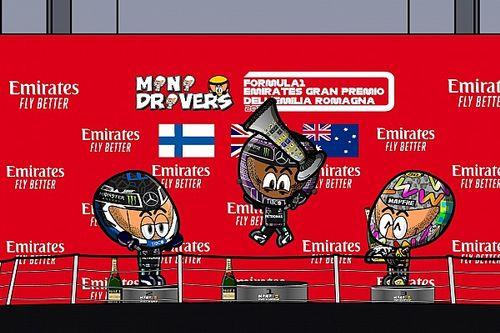 Vídeo: el intenso GP de Emilia Romagna de F1 según MiniDrivers