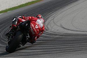 Petrucci encore en difficulté avec le pneu arrière malgré ses efforts