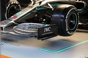 Mercedes copia Ferrari: ecco la nuova ala anteriore della W10 che cerca l'outwash