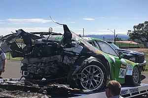 Bathurst 12 Saat: İlk antrenmandaki kazalar yüzünden iki araç yarışamayacak hale geldi