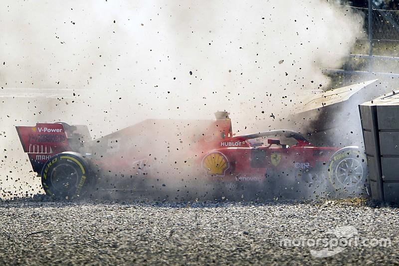 """Vettel dopo il crash: """"Mi sono sentito passeggero, dopo un problema all'anteriore sinistro"""""""