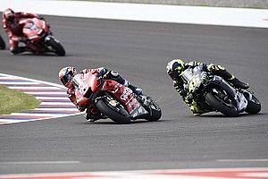 "Dovizioso: ""Cuando Rossi me adelantó tuve miedo de caerme"""