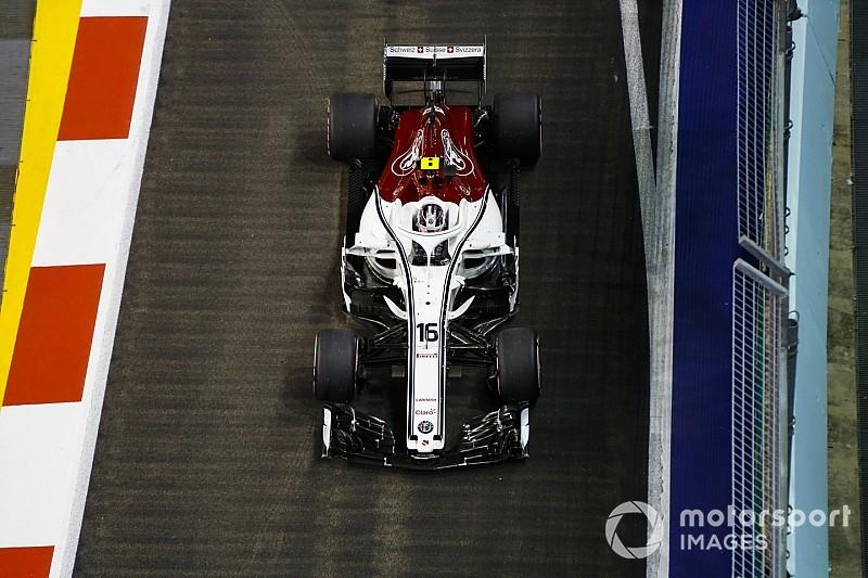 Leclerc újabb pontszerzése a Forma-1-ben a Sauberrel