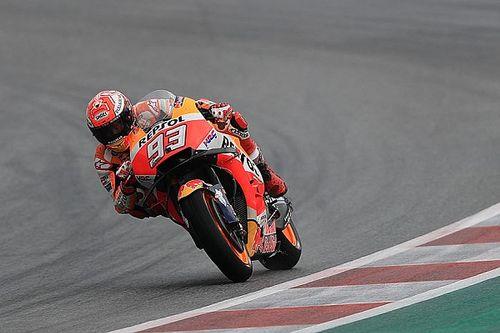 Red Bull Ring, Libere 3: Marquez svetta prima della pioggia. Valentino rimane fuori dalla Q2