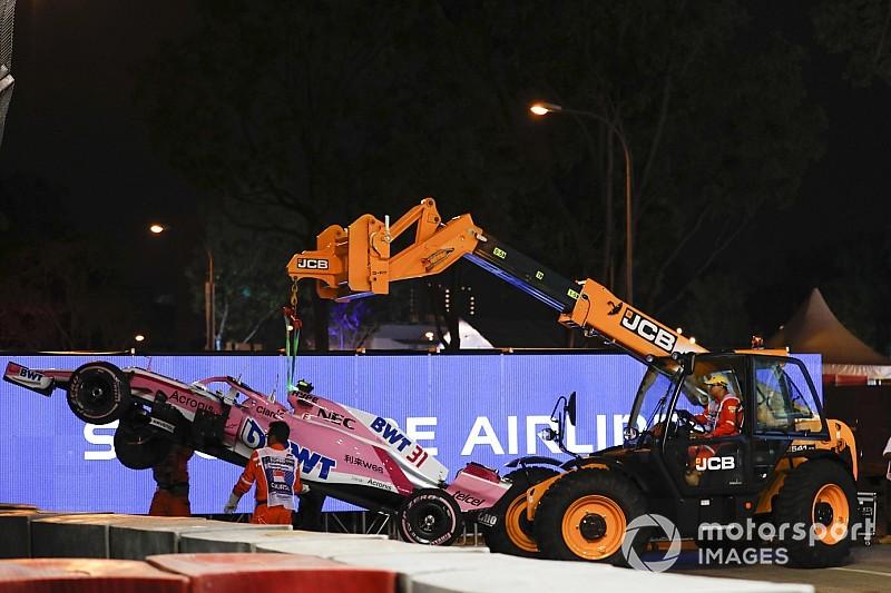 Force India: Sexto seria mais fácil sem acidente em Singapura