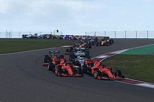 F1 Sanal Grand Prix: Russell yarışı rahat bir şekilde kazandı, Leclerc spin attı!