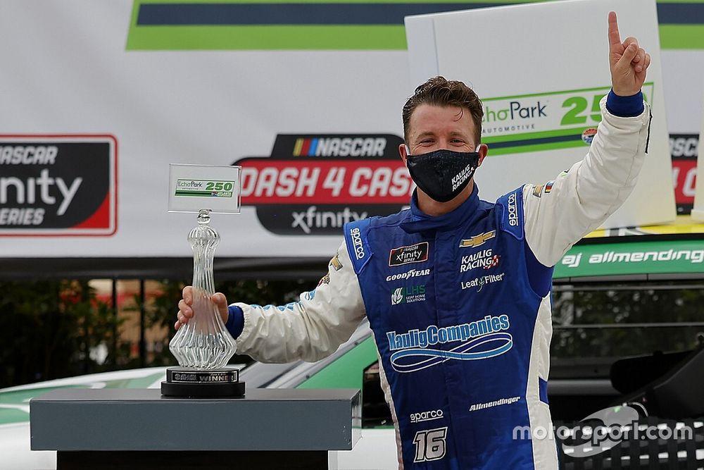 Allmendinger surprises with first NASCAR oval win at Atlanta