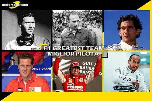 F1 Greatest Team: è Hamilton la prima guida