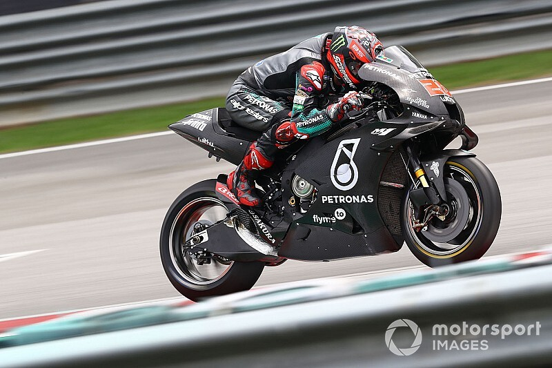 Quartararo fastest again in Sepang, Marquez crashes