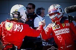 """Vettel """"plutôt surpris"""" par la pole et le doublé Ferrari"""