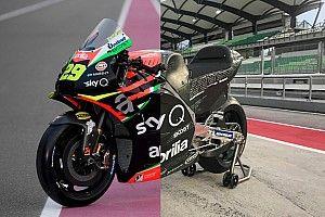 Comparativa visual: la Aprilia RS-GP 2019 vs 2020