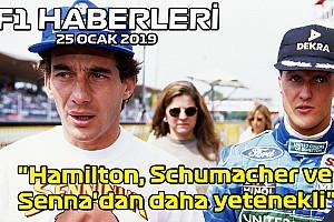 """Video: """"Hamilton, Schumacher ve Senna'dan daha yetenekli"""" -25 Ocak Cumartesi F1 ve Motor Sporları Haberleri"""