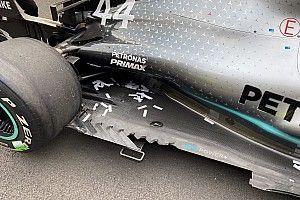 Mercedes: lo squarcio nel fondo di Lewis costava due decimi!