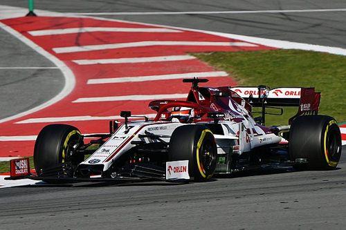 Raikkonen tops second day of F1 testing