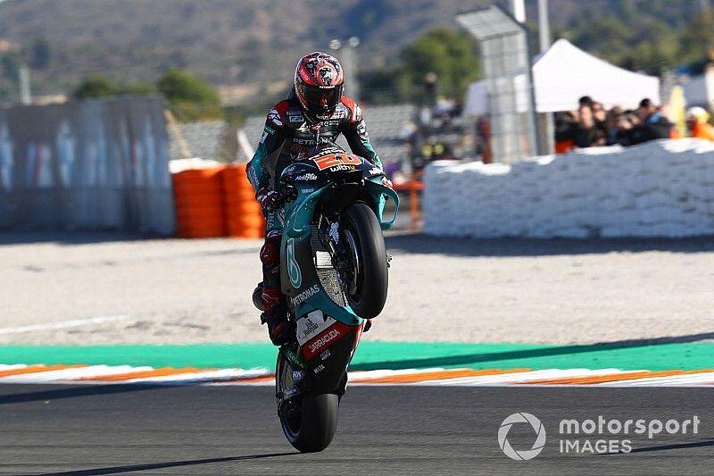 Valencia MotoGP: Sezonun son sıralama turlarında pole Quartararo'nun!