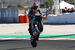 De startopstelling voor de Grand Prix van Valencia