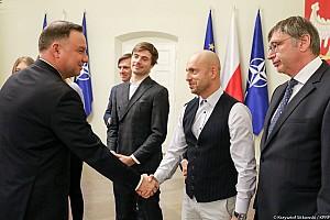 Z Prezydentem Polski o motorsporcie