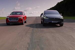 Tegyék meg tétjeiket: A Tesla Model X az Audi e-tron ellen (videó)