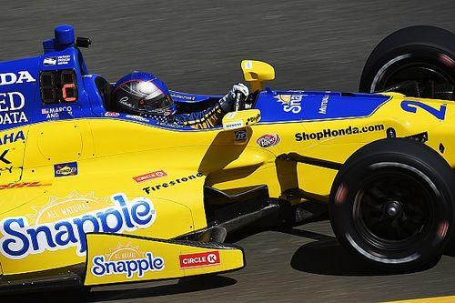 Andretti leads practice; Newgarden, Hinchcliffe shunt