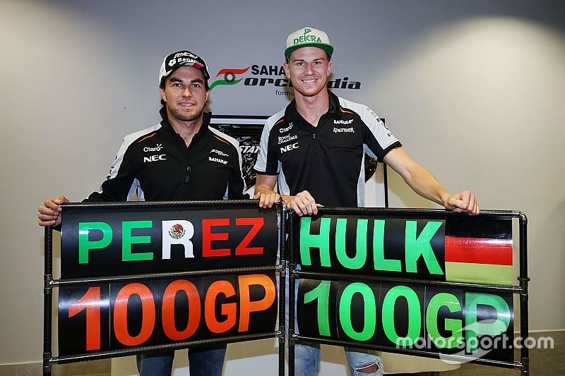 Gallery: Hulkenberg and Perez's journey to 100 F1 grands prix