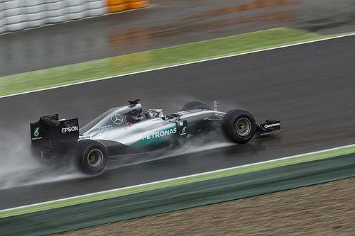 La pluie perturbe les tests des pneus Pirelli 2017 de Rosberg