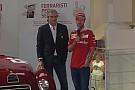 Vettel inaugura a Maranello la mostra