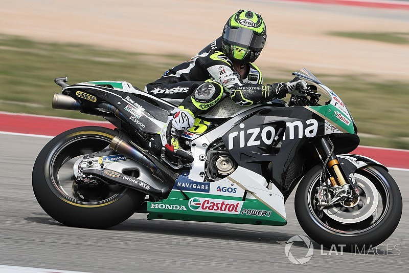 "Crutchlow blames tyre ""lottery"" for poor Austin qualifying run"