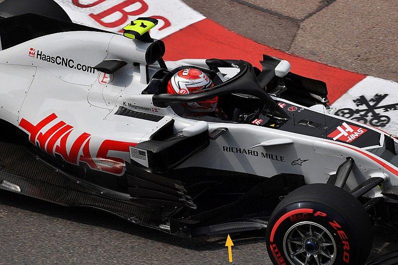 Haas tuvo que quitar elementos frágiles de su bargeboard