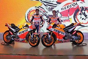 レプソル・ホンダ、今季仕様のバイクを発表。マルケスは3連覇目指す