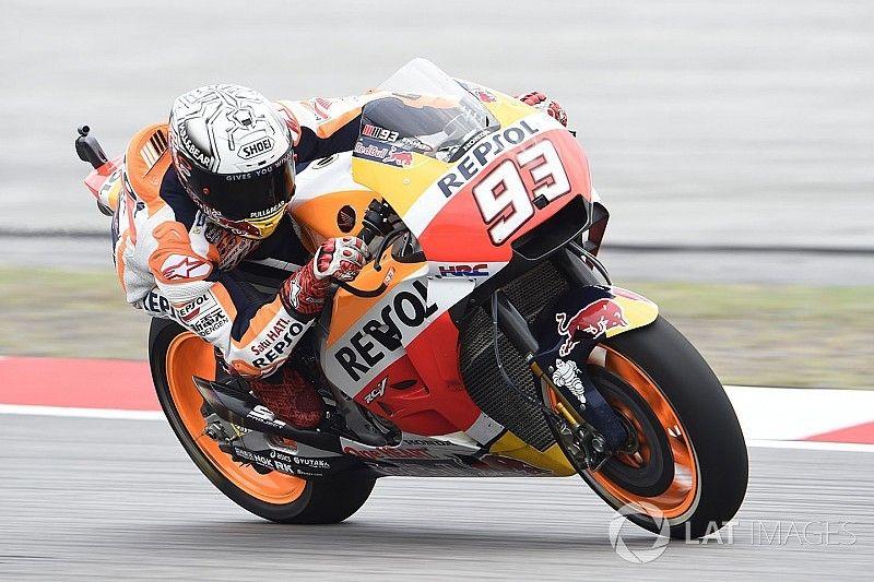 Sur le mouillé, Márquez surnage chez Honda comme en 2016
