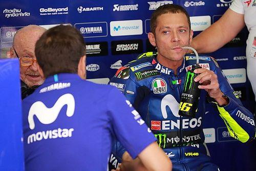 Sem melhoras em teste, Rossi ri de possibilidade de vencer