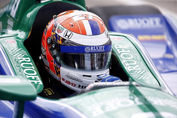 Detroit IndyCar: Rossi takes pole for Race 2 in wet qualifying