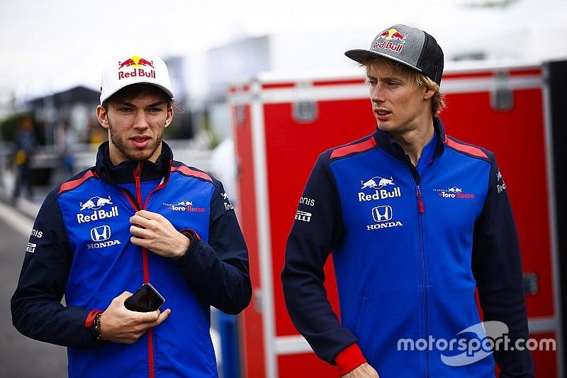 """Hartley unimpressed by Gasly's """"nice speech"""" on team orders"""