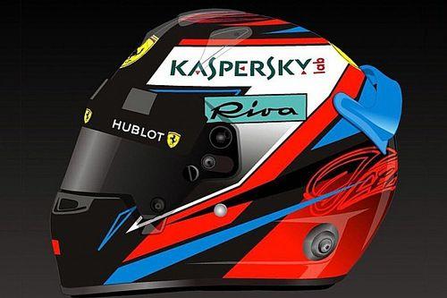 Raikkonen presenta su renovado casco para el mundial 2018 de F1