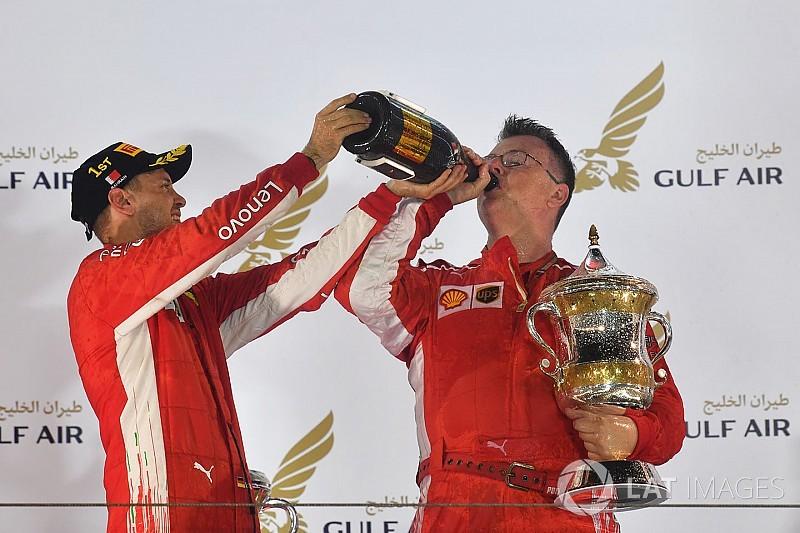 Ferrari, galibiyet kutlamasında yaralanan mekanikeri unutmadı