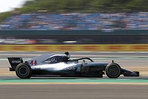 Hamilton destaca el peligro que genera la nueva zona de DRS de Silverstone