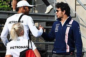 """Pérez considera a Hamilton """"el mejor de esta generación"""""""