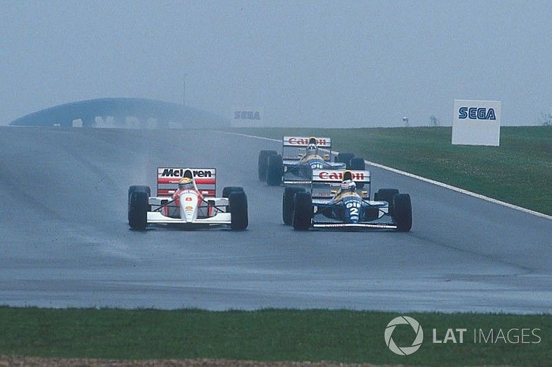 Photos - Donington 1993, la leçon pluvieuse de maître Senna