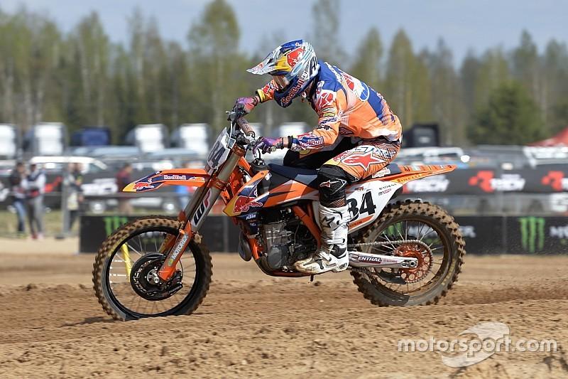 Herlings gana por primera vez en MXGP y Olsen le acompaña en Letonia