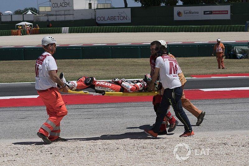 Davies, sin lesiones de gravedad aunque no correrá el domingo en Misano
