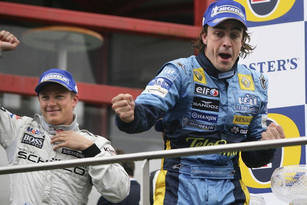 Alonso alcanzará el récord histórico con el adiós de Raikkonen