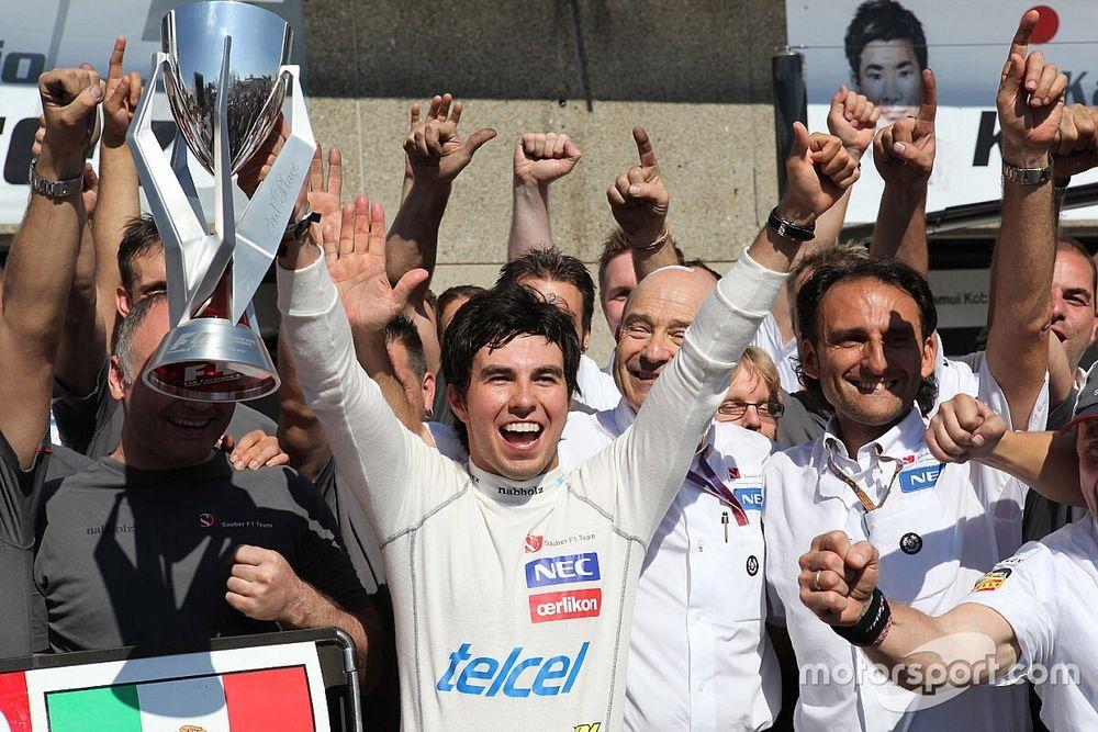 Cuando Sergio Pérez subió al podio en su primer GP de Canadá