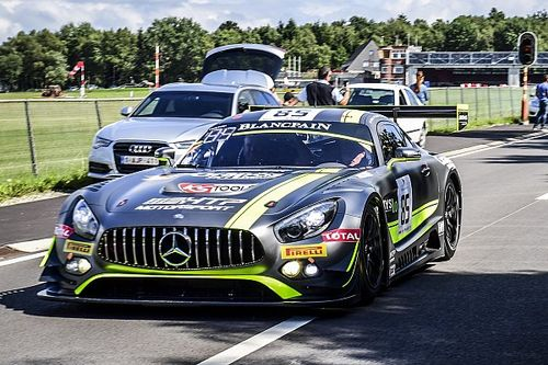 Mercedes-AMG GT3 on the first six grid positions for the Spa 24-hour race
