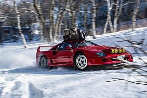 Автомобілі Новини Відео: Дріфт на Ferrari F40 по снігу