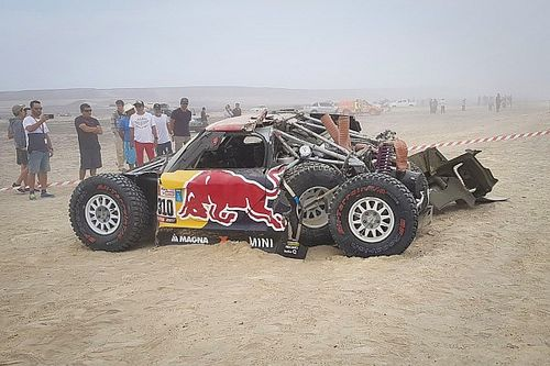Menzies accepts blame for massive Dakar shunt