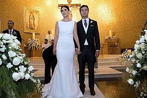 Sergio Pérez celebra su boda