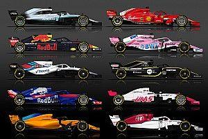 Инфографика: все пилоты и машины Ф1 сезона-2018