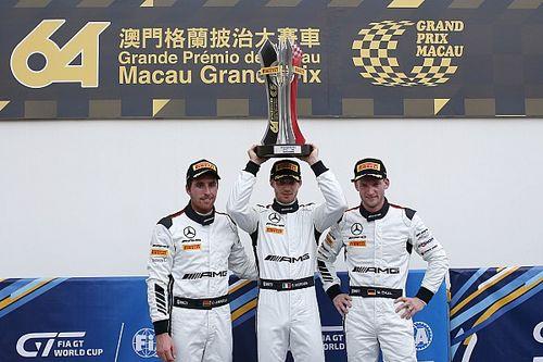 FIA GT World Cup Macau: Mortara op pole, Frijns schampt de muur